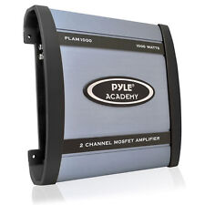Pyle Car Audio PLAM1000 New 1000W 2 Channel Bridgeable Amplifier Tri Way Config