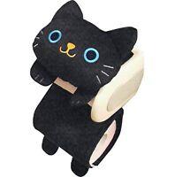 New Black Cat Toilet Paper Roll Holder Black