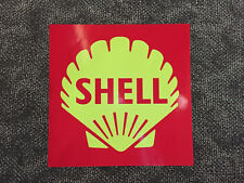 Shell modern clam in box - large self-adhesive vinyl decal for petrol bowser