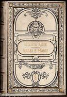 VERSI E PROSE - PARINI GIUSEPPE - LE MONNIER 1908 / Discorso di Giuseppe Giusti