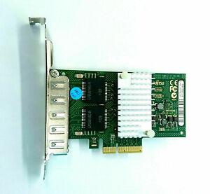 Fujitsu Quad-Port Gigabit Network Card PCI-E D2745-A11 S26361- - Full Profile