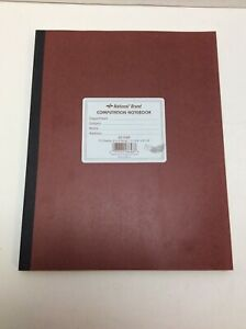 """National Brand Computation Notebook, 9"""" x 11"""", Quad Ruled, 75 Sheets, Brown"""