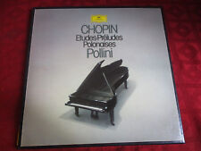3LP Box MAURICE POLLINI Chopin Etude Preludes Polonaises STEREO DGG 2740230 TOP!