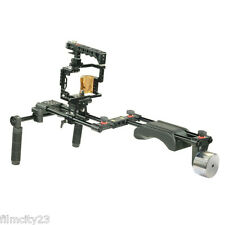 NEW FILMCITY Shoulder Steady Rig Camera Cage for a7RII a7SII a7II Sony Video