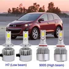 H7+9005 HB3  LED Headlight Conversion Kit Bulb For Mazda CX-7 2012-2007