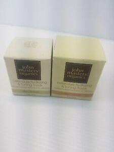 Lot of 2 John Masters Organics Calendula Hydrating & Toning Mask, 2 oz / 57 g