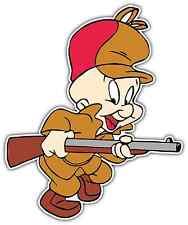 "Elmer Fudd Bugs Bunny Kids Cartoon Car Bumper Window Locker Sticker Decal 4""X5"""