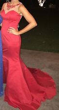Women's Red Prom/Pageant Mermaid Dress size 4