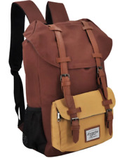 Everyday Deal Travel Laptop Backpack (Brown/Cream)