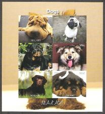 Hunden Dogs 2011 Malawi (1) imperforated cheet of 6