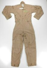 US Military Flight Suit Flyers Coveralls FR Class 2 CWU-27/P Tan 32 Regular NWT