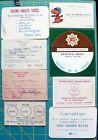 9, 1965+ Vietnam War Era Ephemera from Bangkok Thailand, Hotels, Clubs, Ration