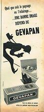 E- Publicité Advertising 1955 Pellicules Film Photo Gevapan Gevaert