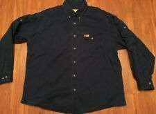 Woolrich Outdoor Guide Collection Dark Blue Camping Hunting Shooting Shirt Xl