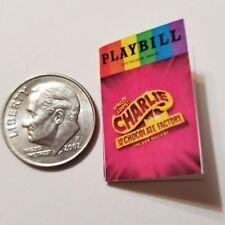 Miniature Dollhouse Playbill  1/12 Barbie       Broadway Charlie Willy Wonka R