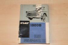78333) Fiat 1800 B - Karosserie Ersatzteilkatalog 1963