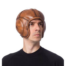 Men's Old School Costume Football Helmet Faux Leather Fashioned Vintage Style