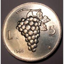 REPUBBLICA ITALIANA 5 Lire 1946 al 2001 FDC (UNC)