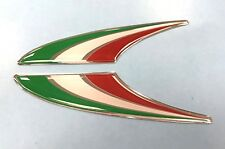 Italy Flag Fin Stickers - 77mm HIGH GLOSS DOMED GEL FINISH