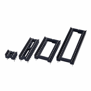 DIL/DIP IC Sockets Integrated Circuit Socket DIP Holder Pack of 10 - Choose Size