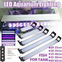 LED Aquarium Fish Tank Lamp Timing 3 Modes Plant Grow Light 20-60CM US/EU Plug