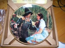 Wizard of Oz Dorothy meets Scarecrow 23k Gold New 50th anniversary comm. plate