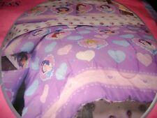 NEW Disney Princess TWIN Comforter Purple Snow White Jasmine Cinderella & Belle