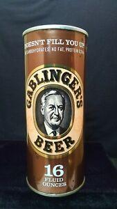 GABLINGER'S BEER 16 FLUID OUNCES - MID 1960'S HALF QUART FAN TAB CAN - NEW YORK