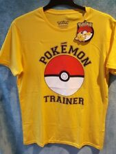 pokemon trainer t shirt yellow