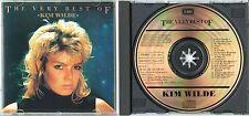 KIM WILDE Very Best Of 1987 UK CD TOP! 80ies Girl Pop Punk Sex KIDS IN AMERICA