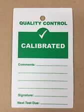 Quality Control QC Calibrated Plastic Tags - Pack of 10