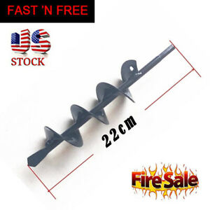 """3''X 12"""" Earth Auger Plant Ground Fence Post Hole Digger Drilling Drill Bit"""