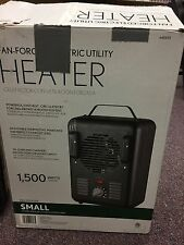Fan-Forced Electric Utility Heater Small Room Size 1500 Watts 640435