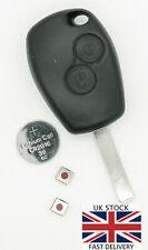 Dacia 2 Button Remote Key Fob Case Repair Kit fits Dacia Logan Sandero Lodgy