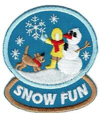 Girl Boy cub SNOW FUN globe Playing In The Fun Patches Crest Badges SCOUT GUIDE