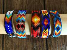 Leather Bead Cuff Native American Style 9 Row