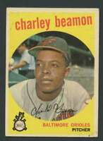 1959 Topps #192 Charley Beamon EX/EX+ RC Rookie Orioles 30245