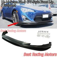 GV Style Front Bumper Lip + Lower Splitter (Urethane) Fit 12-16 FR-S / Toyota 86