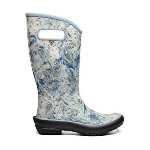 BOGS Rainboot Marble Women's Soft Natural Rubber Gumboots in Blue Multi
