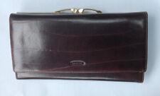 Oroton Leather Wallet Clutch Organizer Checkbook Brown MSRP $185