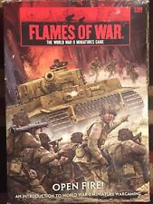 FLAMES OF WAR THE WORLD WAR II MINIATURES GAME OPEN FIRE! BOX SET