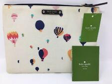 RARE NEW KATE SPADE GIA GET CARRIED AWAY HOT AIR BALLOONS CLUTCH/COSMETIC CASE