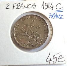 PIECE 2 Francs France 1914 C (731J)