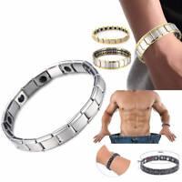 Men Women Titanium Steel Therapy Energy Magnetic Bracelet Health Care Gift