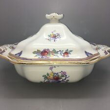 ANTIQUE GRIMWADES WINTON WARE TUREEN WITH FRUIT TREE DESIGN