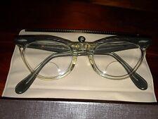 "American Optical Shuron-Horn Rim Perscription Glasses 1963 Gray-5 1/16"" Wide"