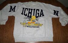 UNIVERSITY MICHIGAN lrg sweatshirt Wolverines crewneck Tweety Bird 1993