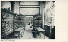 """"""" ROMA : SALE DEL CATALOGO - Biblioteca NAZIONALE Centrale """" Cartolina d'epoca"""