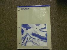 1997 HYUNDAI Parts Price List Manual JULY Sonata Accent FACTORY OEM BOOK 97