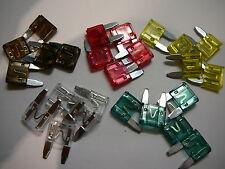 25 MINI BLADE CAR FUSES(7.5A/10A/20A/25A/30A MINI BLADE FUSES)5 OF EACH-(25)